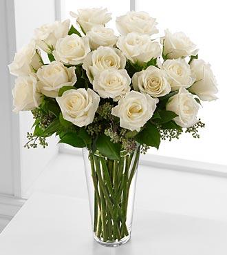 White 18 long stem roses turkey flowers shop white 18 long stem roses mightylinksfo