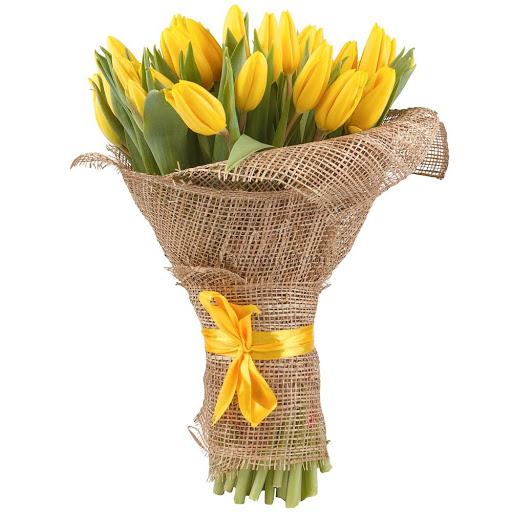 20 yellow tulips