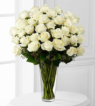 36 Long Stem White Roses
