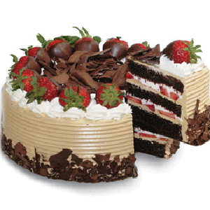 CHOCO AND STRAWBERRY CAKE
