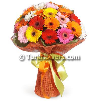 21 Gerbera Bouquet