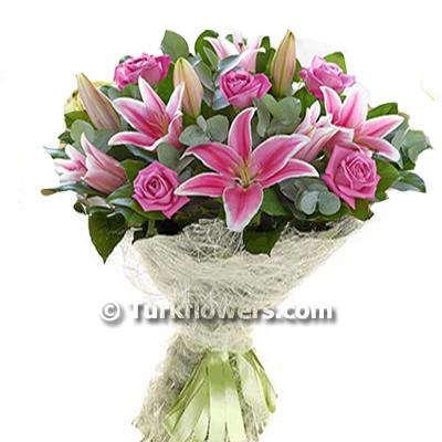 pink Rose Pink Lily