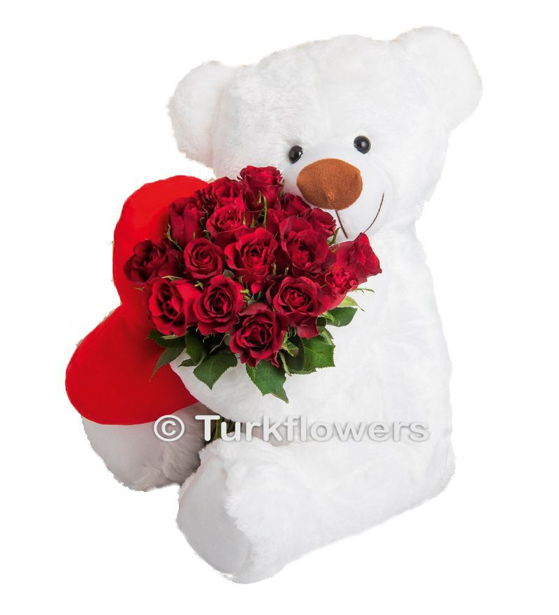 Bear with a Roses