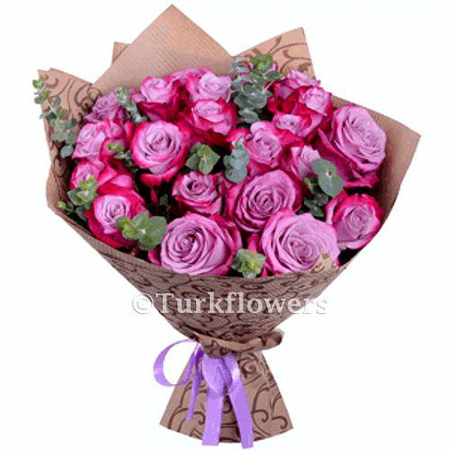 21 Purple Roses