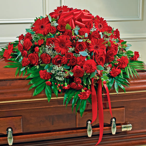 red-mixed-half-casket-cover
