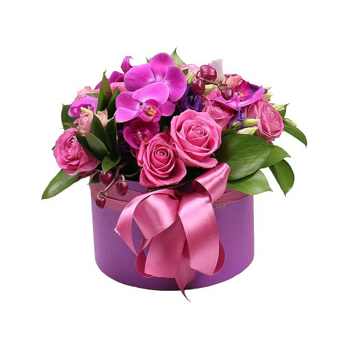 pink-flowers-box-