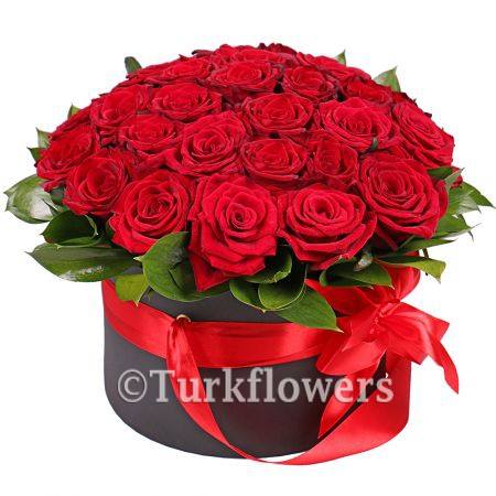 25-red-roses-İn-box