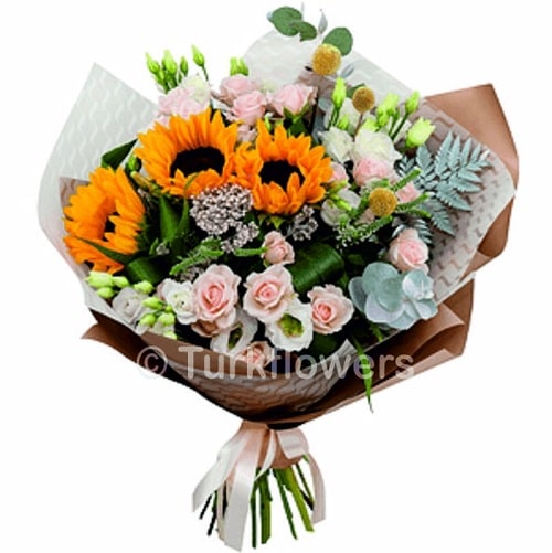 sun-flowers-mix-bouquets
