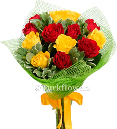 13-red---yellow-roses-bouquet
